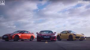 Nissan Gtr Yellow - honda nsx vs nissan gt r vs porsche 911 turbo mega race video