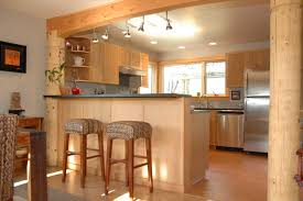 wood kitchen floors with honey cabinets amazing unique shaped home