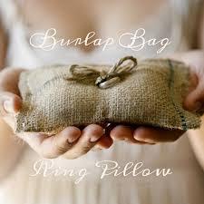 ring pillow diy burlap bag ring pillow ruffled