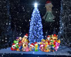 super mario christmas wallpaper by 1kamz on deviantart