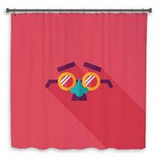Crazy Shower Curtains Funny Shower Curtains Coco De Paris Funny Giraffe Shower Curtain