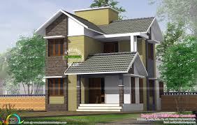 home design consultant small slope roof storied house kerala home design and