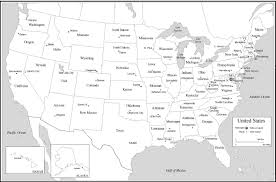 Map Of Usa With State Capitals by List Of State Name Abbreviations