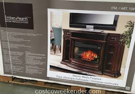 Electric Media Fireplace Well Universal Electric Media Fireplace Costco Weekender
