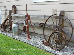 Metal Garden Flowers Outdoor Decor Garden Decor Ideas From Junk Clutter Yards And Organizing