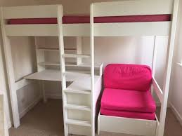High Sleeper With Futon And Desk Stompa High Sleeper With Desk Shelves Storage Unit Pull Out