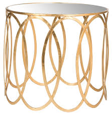Ceramic Accent Table by Hall Gold End Table With Gold Accent Table With White Ceramic