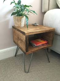 wood bedside table acacia wood bedside table with 3 drawers dark