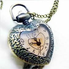 ladies pocket watch necklace images Vintage love heart pocket watch pendant necklace buy heart watch jpg