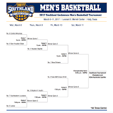 southland tournament bracket 2017 stephen f austin faces tough