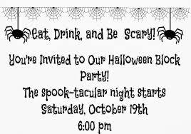 neighborhood party halloween invitations u2013 halloween wizard