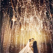wedding backdrop fairy lights waterfall 300 600led window curtain lights string fairy light