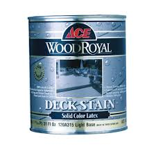 ace wood royal solid color latex deck stain quart exterior