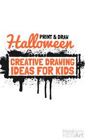 halloween creative drawing ideas for kids handmade kids art