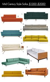 Mid Century Modern Furniture Sofa by The Ultimate Mid Century Style Sofa Guide U2013 A Beautiful Mess