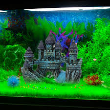 buy resin castle aquariums decorations castle tower