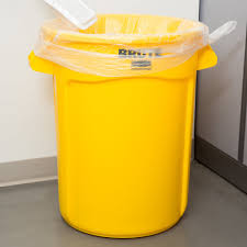 ideas rubbermaid trash cans in yellow brute 32 gallon trash can