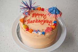 thanksgiving theme celebration cake