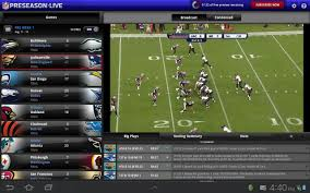 nfl preseason live for tablet scores one lowest