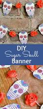 diy sugar skull banner tutorial with free printable artwork this