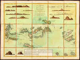 map usvi map of the islands 1779 les vierges bvi usvi