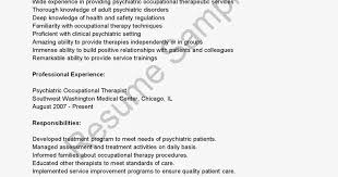 Sample Occupational Therapist Resume by Resume Psychiatrist Psychiatrist Resume Free Word Template