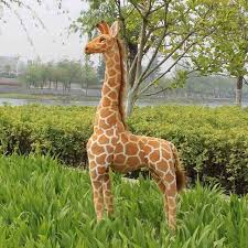 s day giraffe big size simulation giraffe plush lovely standing giraffe