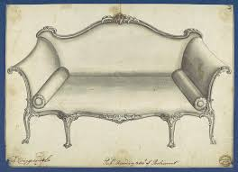 Interior Design Furniture Sketches Chippendale Sofa Sofa From Chippendale Drawings Vol I