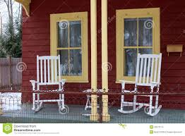 front porch rocking chairs royalty free stock image image 26903536