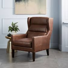 clarke leather wing chair west elm