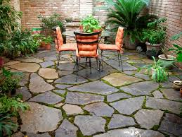 Rock Patio Designs I Like The Randomness Of This Perhaps With Small Rocks Or Cement