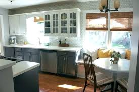 kitchen with yellow walls and gray cabinets blue and yellow kitchen decor light themes grey cabinets walls pale