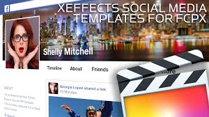 social media templates for fcp x youtube