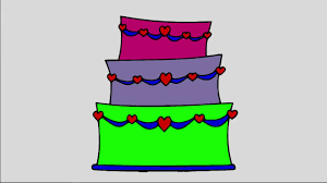 drawing wedding cake and coloring pages for kids drawing and