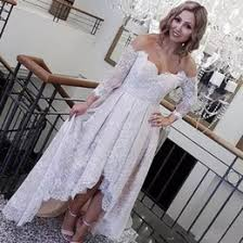 mermaid low back vintage wedding dresses reviews bow sheer neck