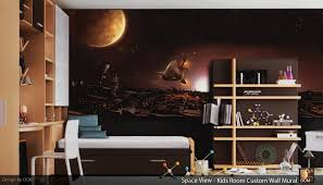 Wall Mural Childrens Bedroom Interior Beautiful Boy Bedroom Decoration With Undersea Life Wall