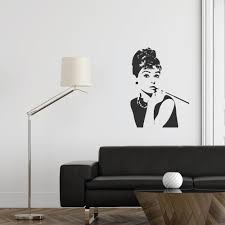 products wallboss wall stickers wall art stickers uk wall audrey hepburn wall decal
