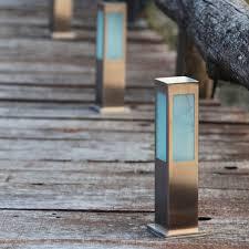 garden bollard light contemporary stainless steel steel