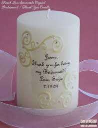 personalize candles lace swarovski wedding candles