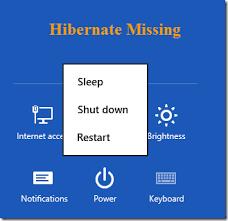 Resume From Hibernation How To Enable Hibernation Or Hibernate Option In Windows 8