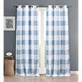 amazon com gingham panels draperies u0026 curtains home u0026 kitchen