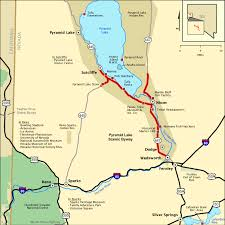 americas byways pyramid lake scenic byway map america s byways