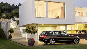 mercedes c300 wallpaper brown mercedes benz c class estate in the evening by the house