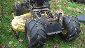 how to replace the transmission on john deere riding lawn tractor