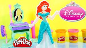 The Little Mermaid Vanity Play Doh Disney Prettiest Princess Ariel Royal Vanity Toys The