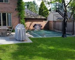 How To Build A Basketball Court In Backyard Backyard Basketball Courts Houzz