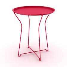 amazon com dar living metal tray side table red kitchen u0026 dining