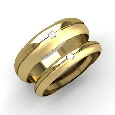 Wedding Rings Sets His And Hers by His And Hers Wedding Ring Sets A Set Of 9ct Yellow Gold D Shaped