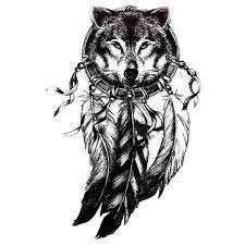 3d wolf sticker 3d wolf indian