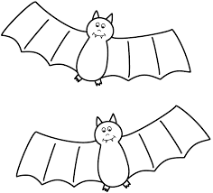 bats moon coloring page simple bat halloween coloring pages